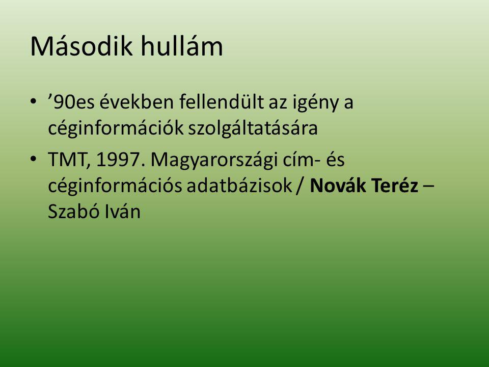 Jogi szabályozás Uniós irányelv 1998-ra Először Németek, – adatbázisok→szerzői jogi törvénybe Magyarországon – 1999.