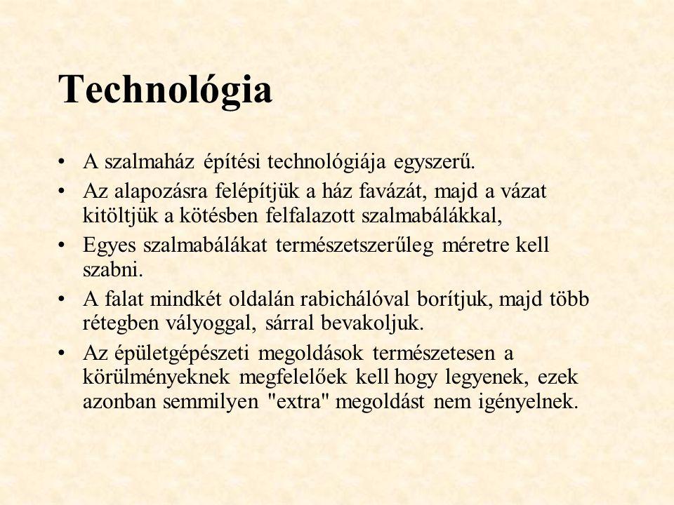 Technológia A szalmaház építési technológiája egyszerű.