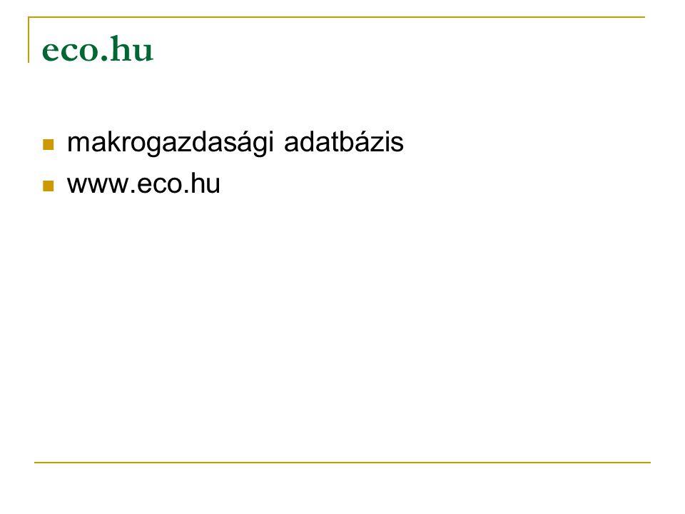 eco.hu makrogazdasági adatbázis www.eco.hu