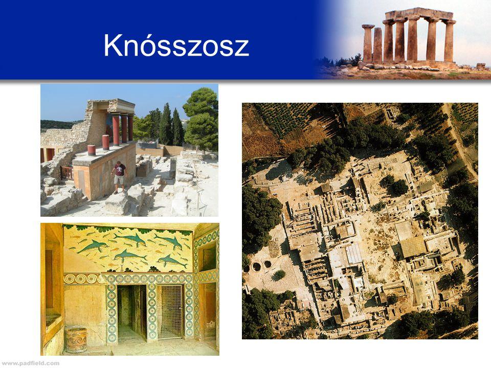A mükénéi kultúra A görög törzsek több hullámban érkeztek a Balkán déli részére a Kr.e.