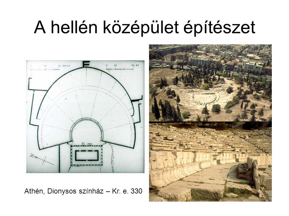 A hellén középület építészet Athén, Dionysos színház – Kr. e. 330