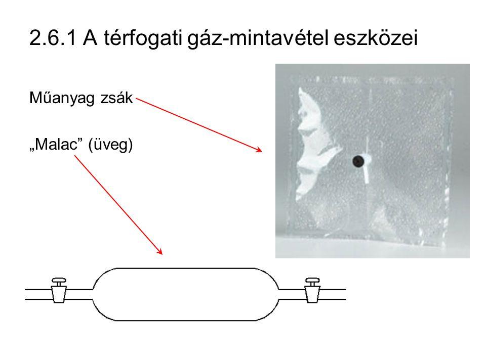 """2.6.1 A térfogati gáz-mintavétel eszközei Műanyag zsák """"Malac"""" (üveg)"""