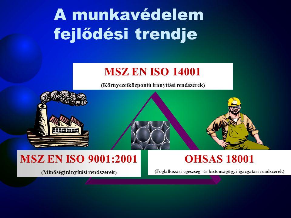 """A munkavédelem szerkezete Munkavédelem Munkabiztonság """"…a körülmények olyan állapota, amely kizárja a veszélyes és ártalmas termelési tényezők érvénye"""