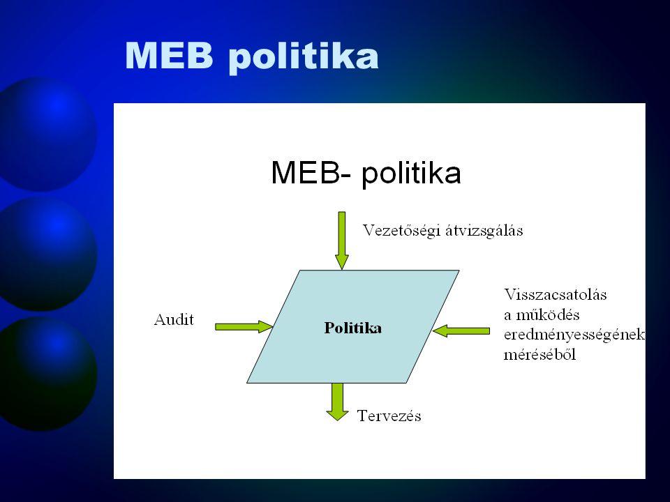 Általános követelmények A szervezetnek ki kell alakítania, és fenn kell tartania egy, MEB irányítási rendszert. Az irányítási rendszer meg kell, hogy