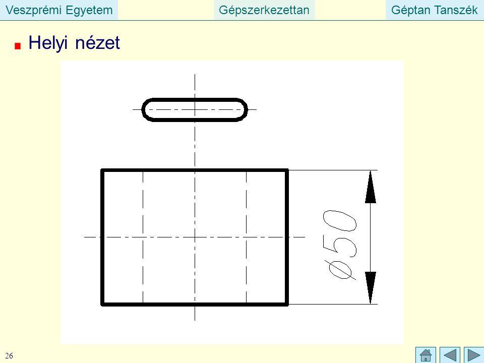 Veszprémi EgyetemGépszerkezettanGéptan TanszékVeszprémi EgyetemGéptan Tanszék 26 Helyi nézet