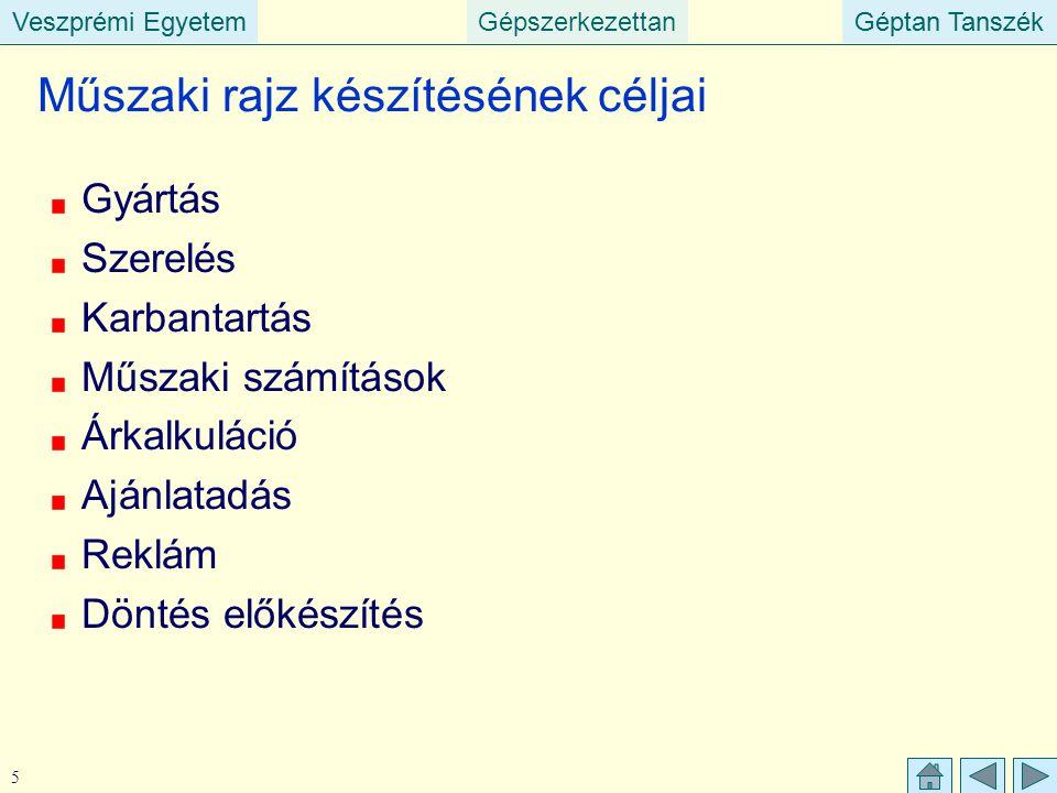 Veszprémi EgyetemGépszerkezettanGéptan TanszékVeszprémi EgyetemGéptan Tanszék 46 Tűrés előírása Nem a határméreteket írjuk elő, hanem azt, hogy mekkora: a tűrésmező nagysága (T), Alapeltérés (E).