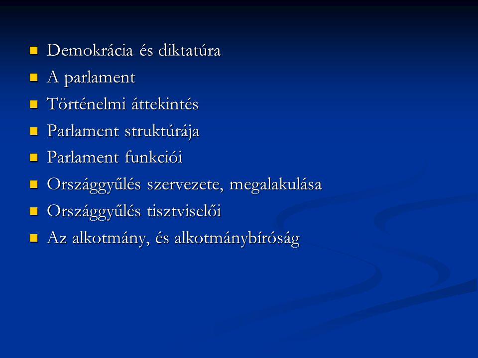 Országgyűlés szervezete, megalakulása: Országgyűlés alakuló ülése: A választásokat követő egy hónapon belül az államfő hívja össze, és nyitja meg.
