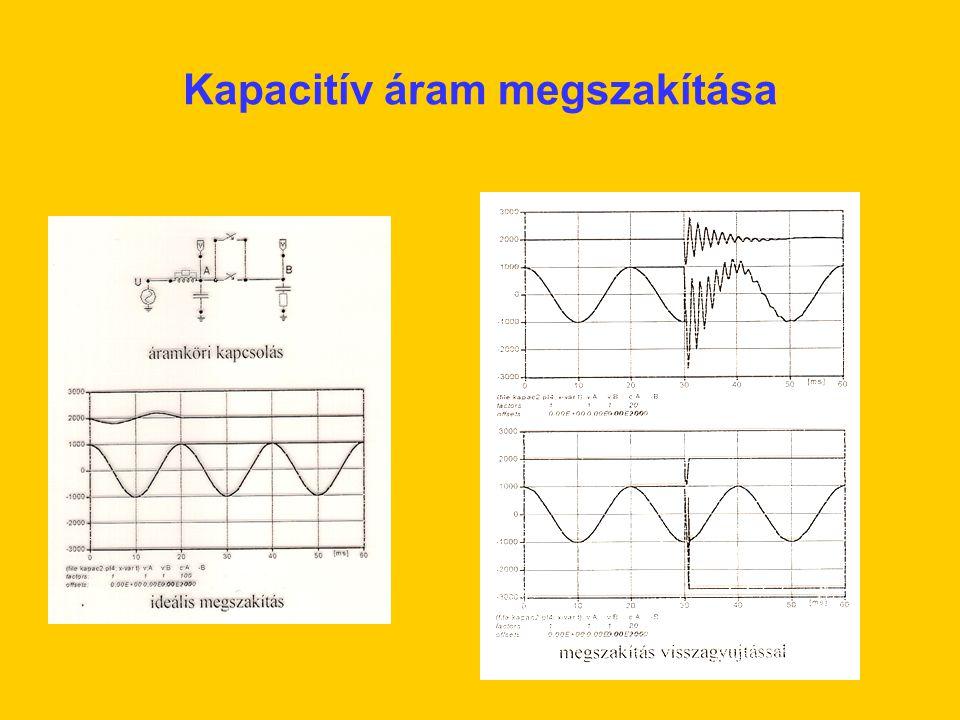 Kapacitív áram megszakítása