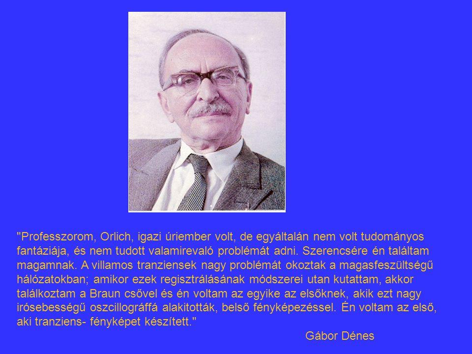Professzorom, Orlich, igazi úriember volt, de egyáltalán nem volt tudományos fantáziája, és nem tudott valamirevaló problémát adni.
