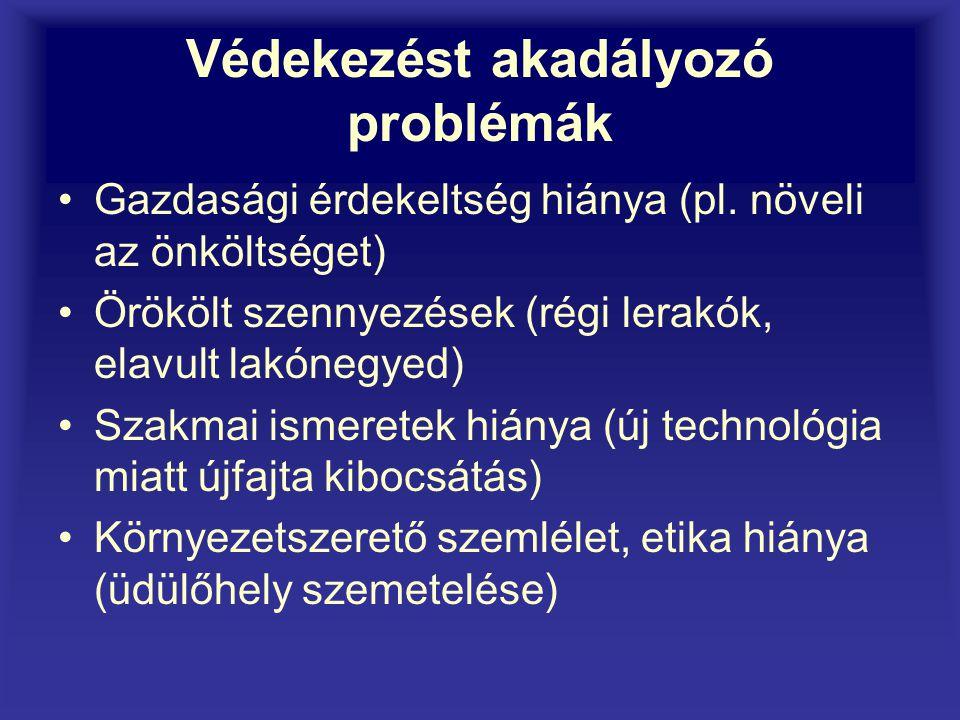 Védekezést akadályozó problémák Gazdasági érdekeltség hiánya (pl.