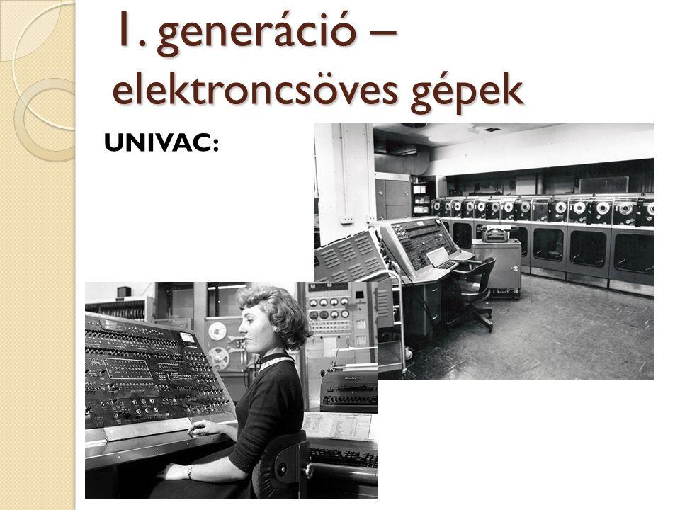 UNIVAC: 1. generáció – elektroncsöves gépek