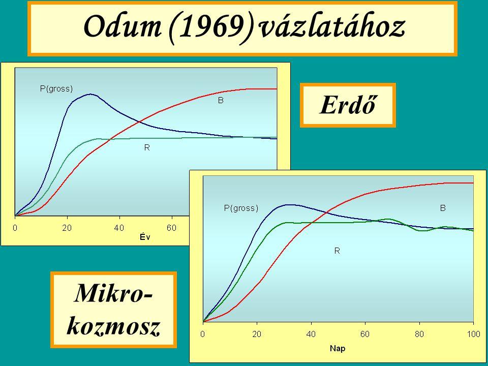 Odum (1969) vázlata (2) TÁRSULÁSSZERKEZETFejlődő állapotVégső állapot 1.
