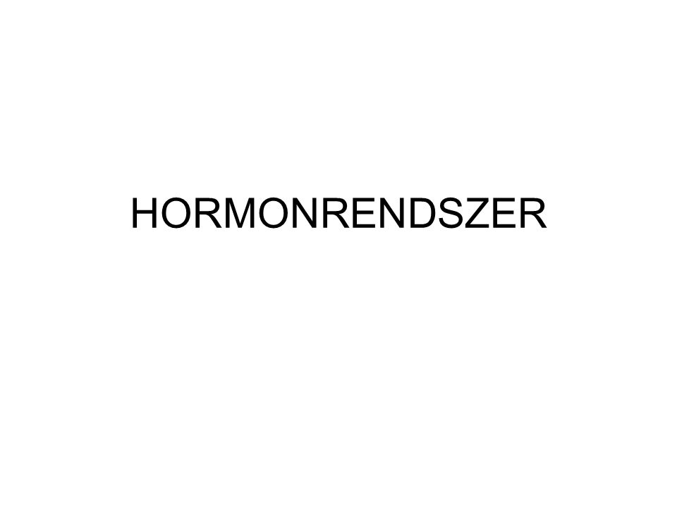 HORMONRENDSZER