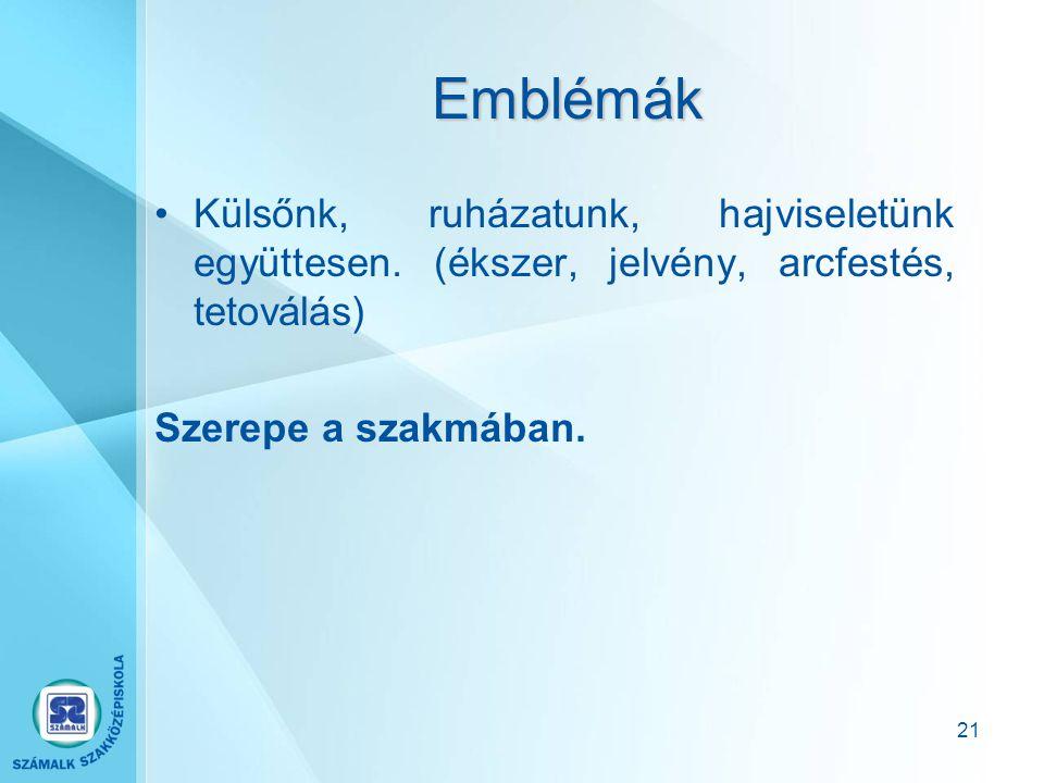 20 Proxemika A kommunikációban résztvevők közötti távolság. Befolyásolja a kommunikáció célja, a felek közötti viszony és a beszédhelyzet. (európai –
