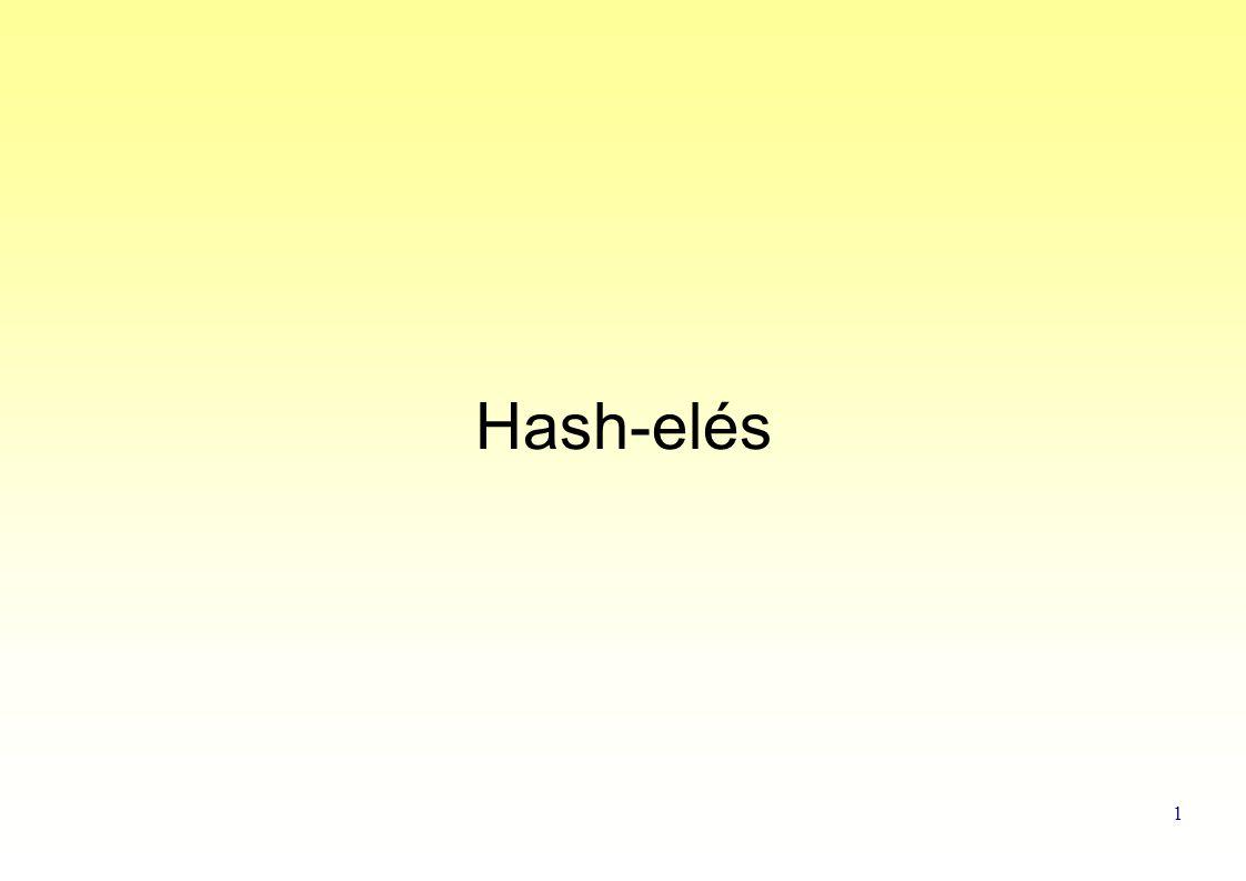 1 Hash-elés