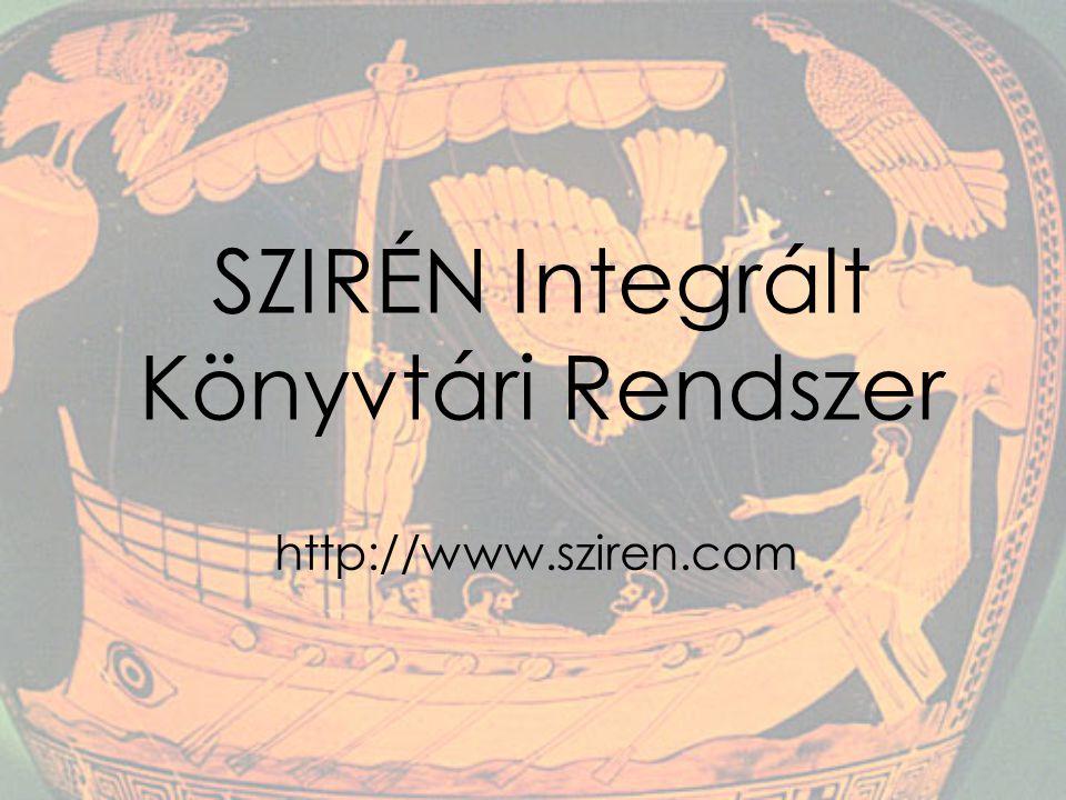 SZIRÉN Integrált Könyvtári Rendszer http://www.sziren.com