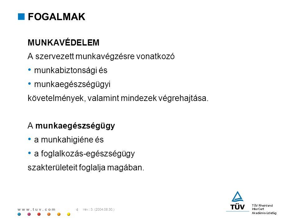 w w w.t u v. c o m 15 rev.: 3. (2004.08.30.)  JOGI TÁMPONTOK 25/2000 (IX.