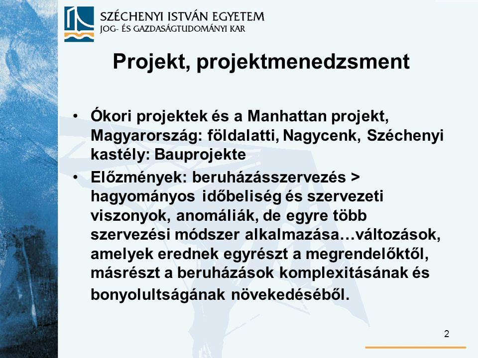 13 A kialakítási fázis végeredménye lehet a projektjavaslat, pontosabban az ennek alapján születő döntés és a projektmegbízás.