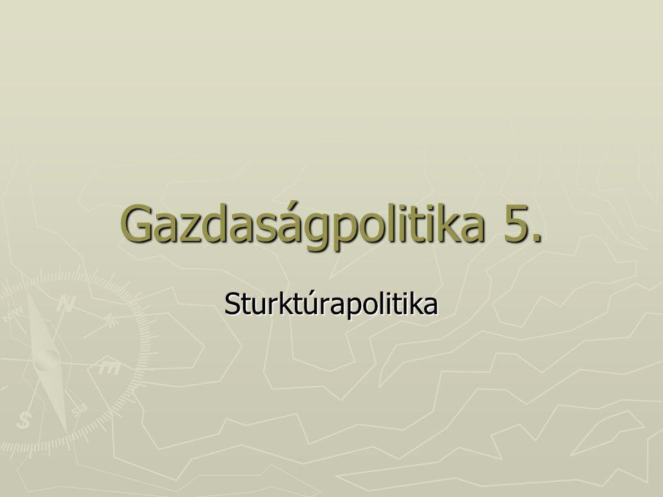 Gazdaságpolitika 5. Sturktúrapolitika