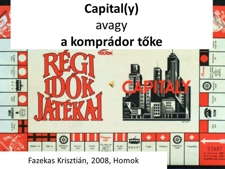 Capital(y) avagy a komprádor tőke Fazekas Krisztián, 2008, Homok