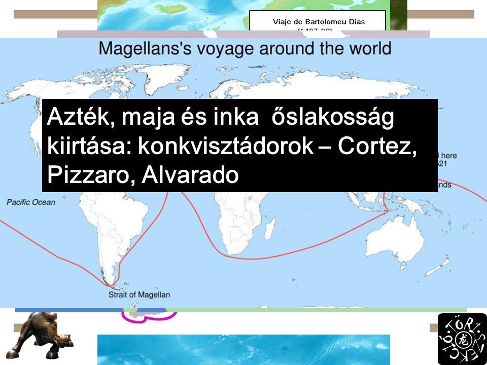 Fellendülés XV.sz. közepe: ipar és mg. fejlődik  népesség nő  Ny-Eu para Kereskedelem: Hanza és Levante 1453: Konstantinápoly fold  új utak kellene