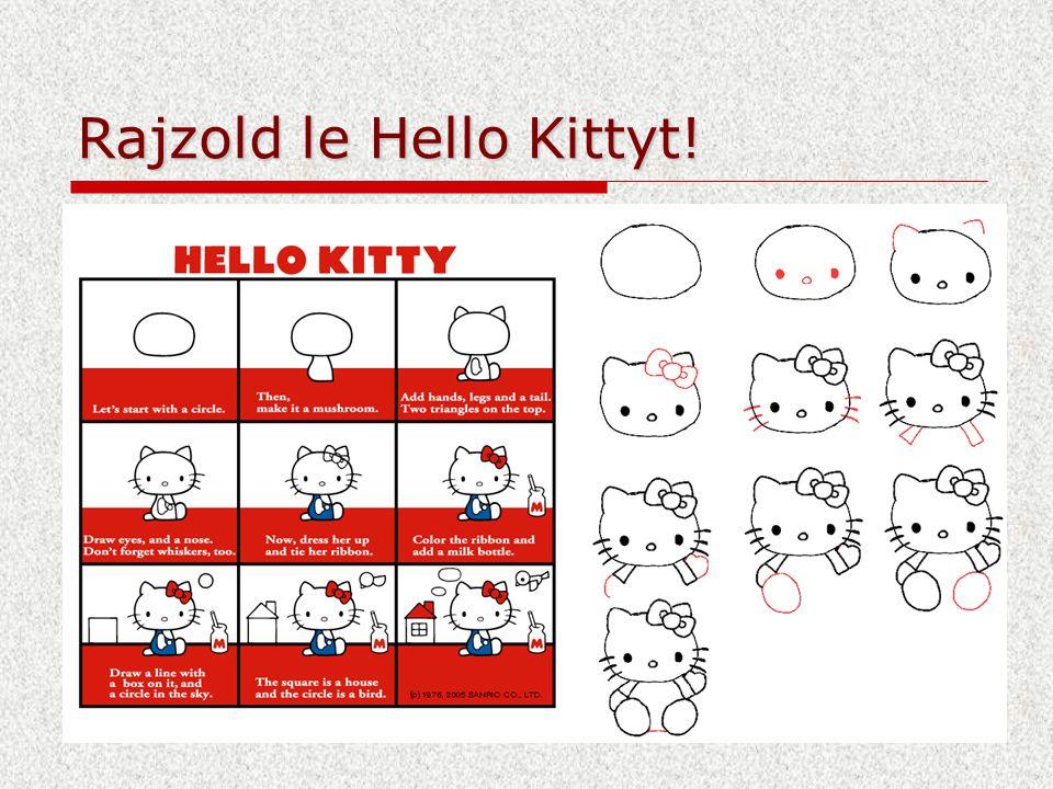Rajzold le Hello Kittyt!
