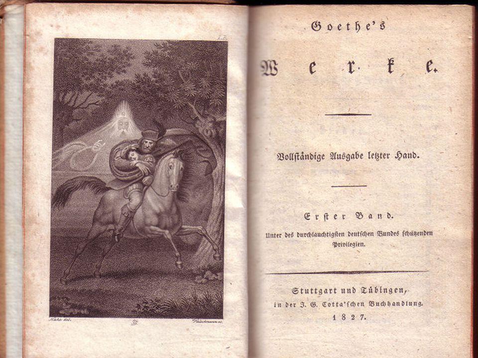 Goethe irodalmi munkássága Herder felkeltette Goethe érdeklődését a népdalok iránt, - népdalgyűjtés.