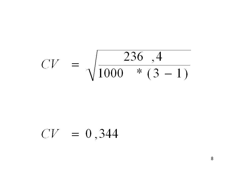 9 Nem khi-négyzeten alapuló mérőszámok Lambda: ha a változók nominális mérési szintűek Gamma: ha a változók ordinális mérési szintűek
