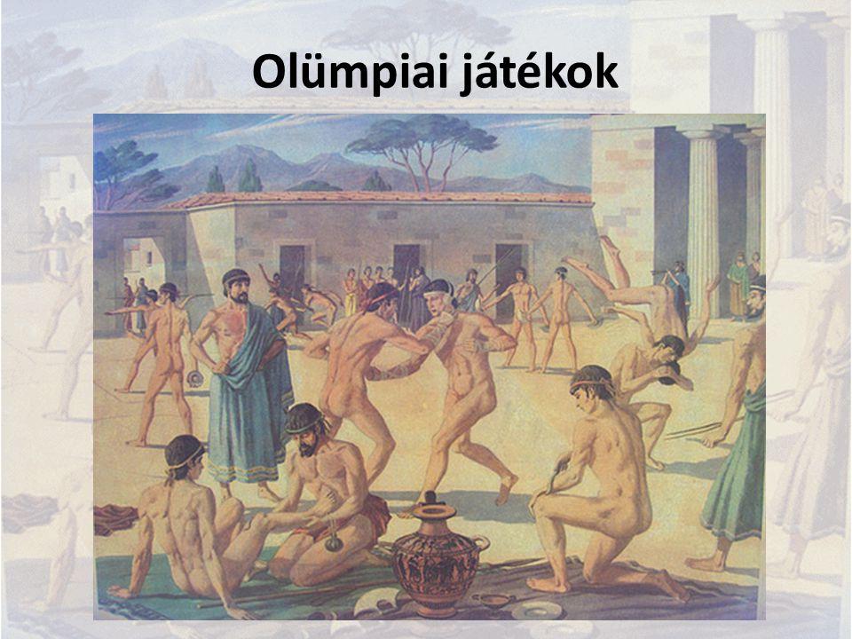 Pánhellén játékok Az ókori Görögország négy nagy sportjátékának összefoglaló neve: olümpiai játékok – a legismertebb, legfontosabb, négyévente Élisz tartományban, Zeusz tiszteletére püthói játékok – négyévente Delphoi mellett, Apollón tiszteletére nemeai játékok – kétévente Zeusz tiszteletére iszthmoszi játékok – kétévente, Korinthosz mellett, Poszeidón tiszteletére