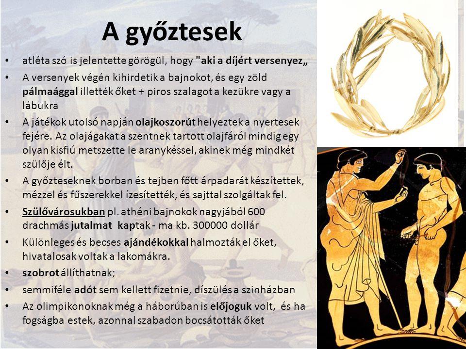 A győztesek atléta szó is jelentette görögül, hogy