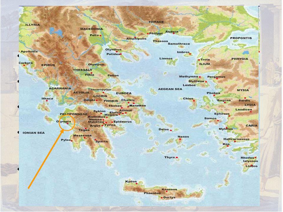 Olümpiai játékok Az olümpiai játékok sport és vallási ünnep volt Zeusz tiszteletére A történeti források szerint a játékokat Kr. e. 776 és i. sz. 393