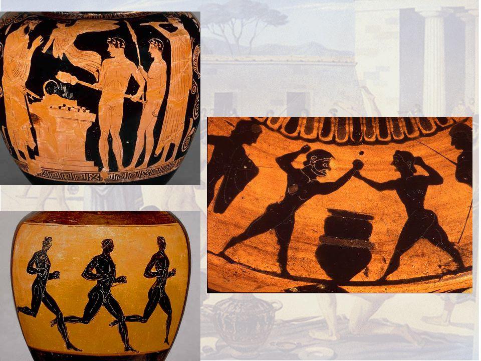 Versenyek Minden résztvevőnek esküt kellett tennie Zeusz szobra előtt, hogy 10 hónapja edzésben van.