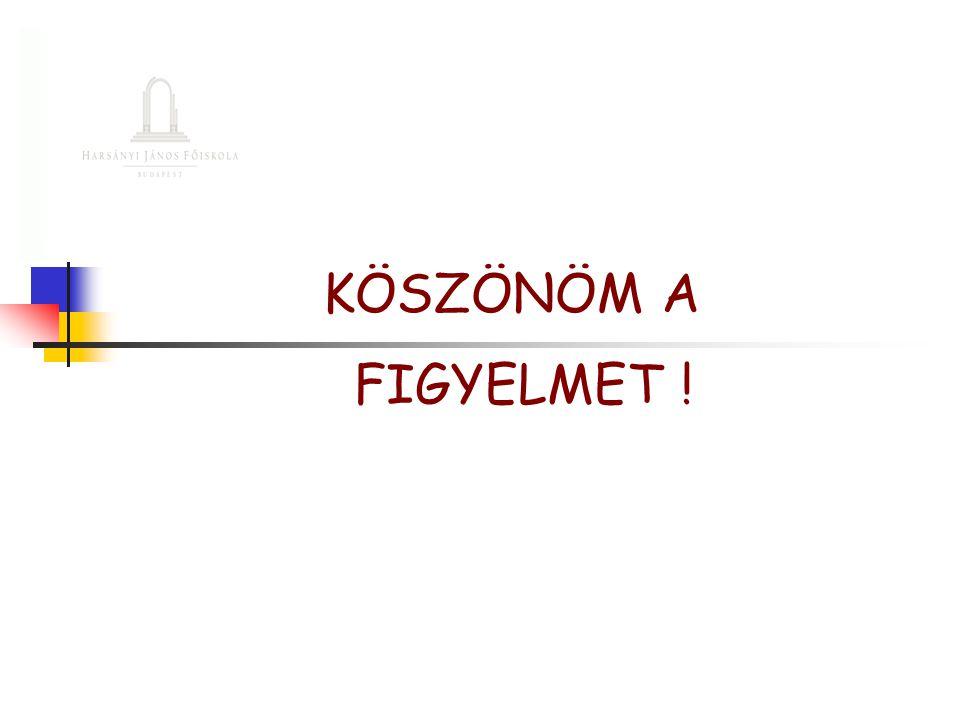 KÖSZÖNÖM A FIGYELMET !