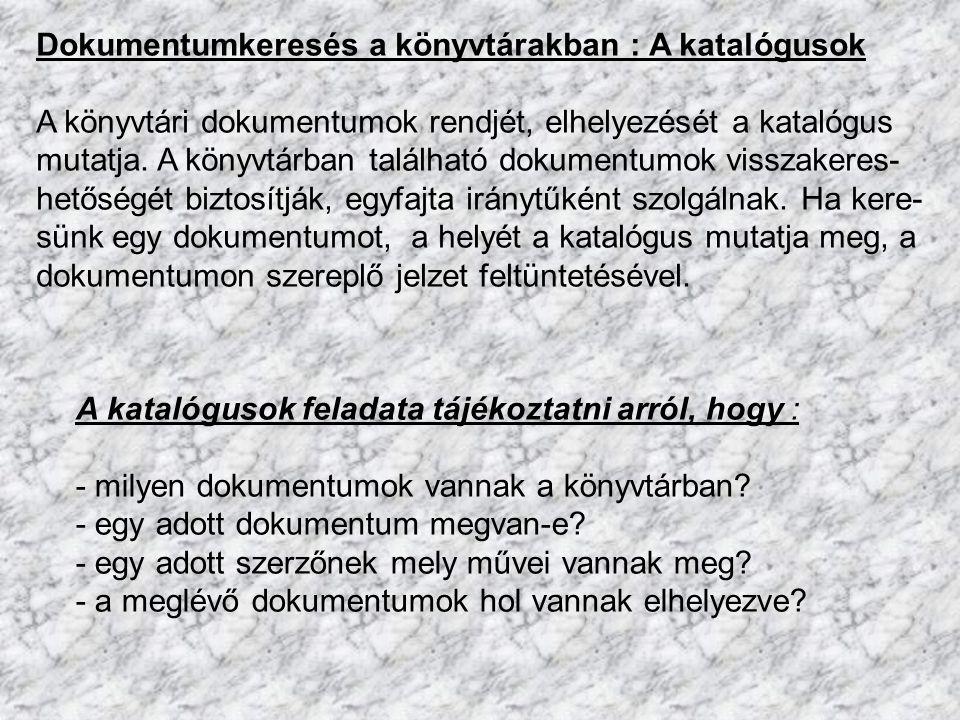 Kézikönyvek : - gyors tájékozódás eszközei - csak helyben lehet használni, nem kölcsönözhető - elhelyezés rendje : mint a szakirodalom Típusai : 1.) Lexikon 2.) Enciklopédia 3.) Szótár