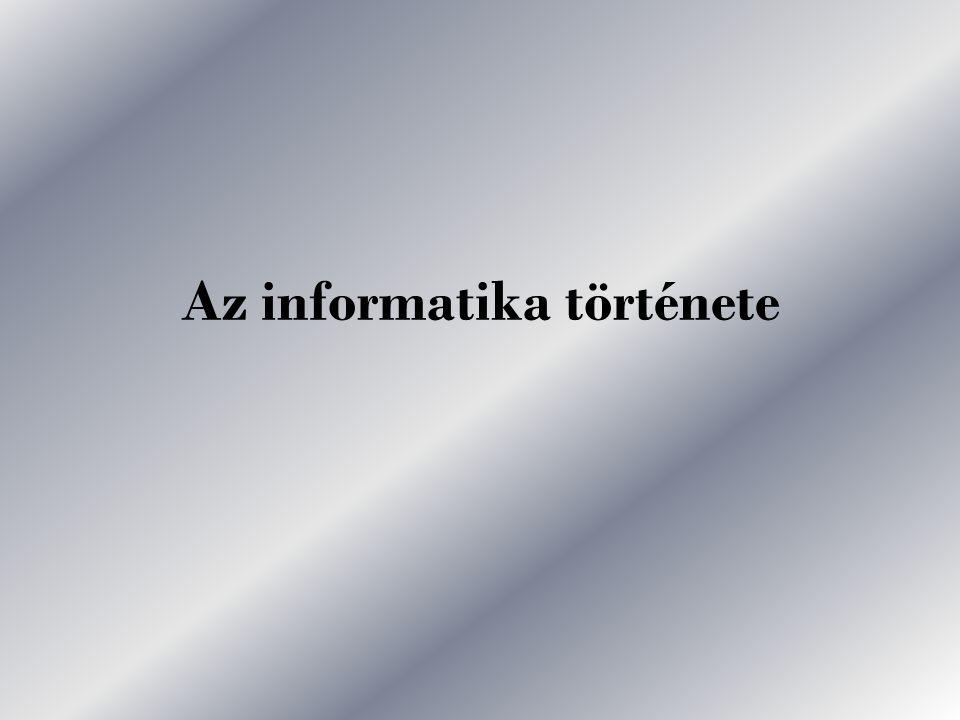 Az informatika története