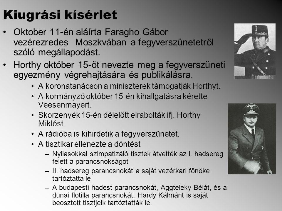 Oktober 11-én aláírta Faragho Gábor vezérezredes Moszkvában a fegyverszünetetről szóló megállapodást.