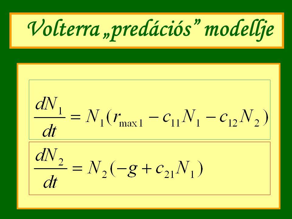"""Volterra """"predációs modellje"""