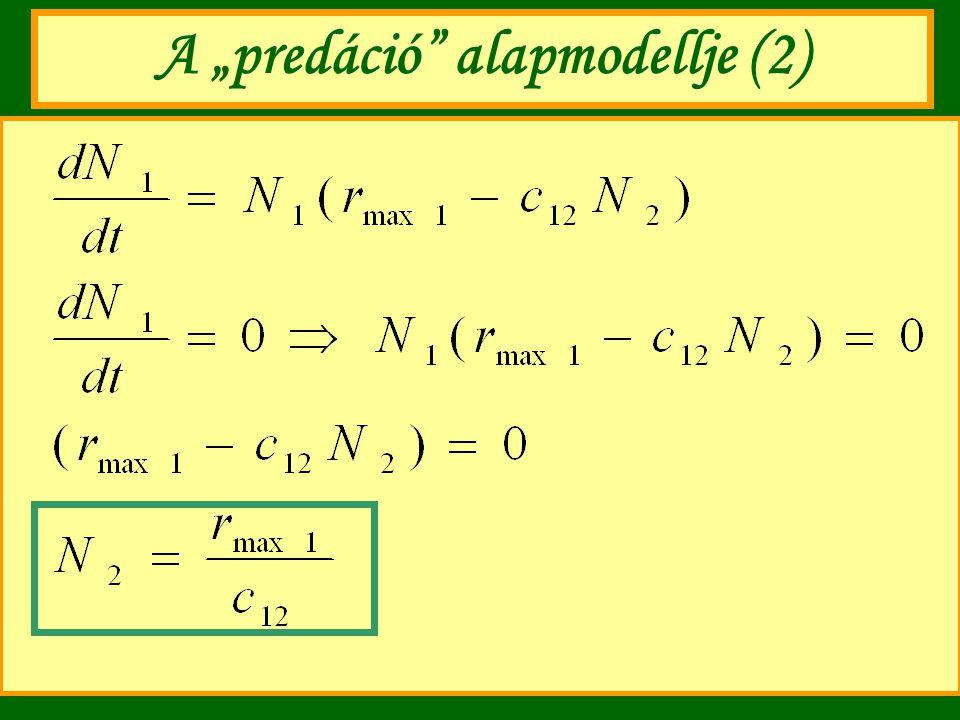 "A ""predáció"" alapmodellje (2)"