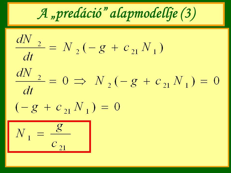 "A ""predáció"" alapmodellje (3)"