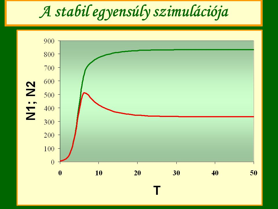 A stabil egyensúly szimulációja