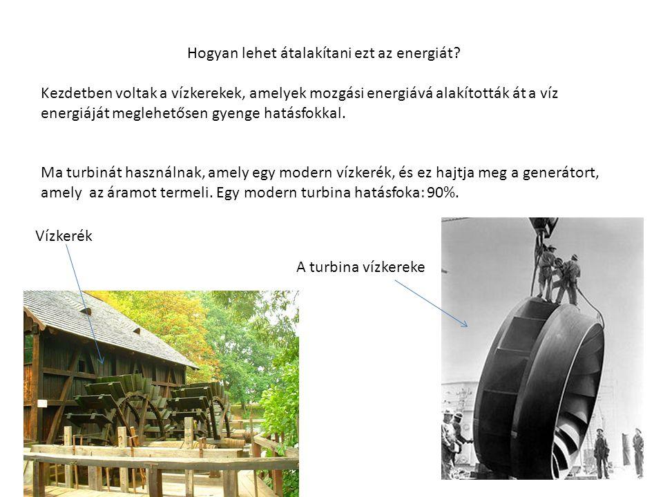 Hogyan lehet átalakítani ezt az energiát? Kezdetben voltak a vízkerekek, amelyek mozgási energiává alakították át a víz energiáját meglehetősen gyenge