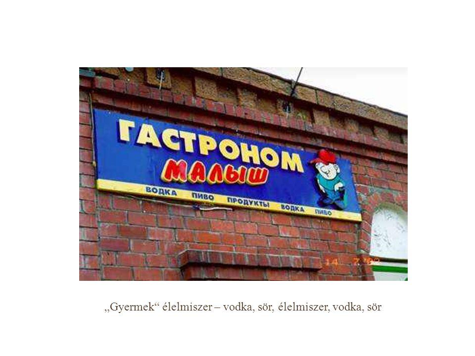 """""""Gyermek"""" élelmiszer – vodka, sör, élelmiszer, vodka, sör"""