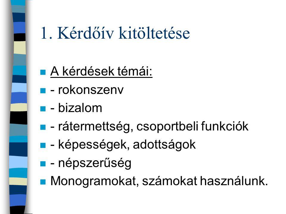 Az osztályterem pedagógiája n A szociometriai módszer lépései: n 1. Kérdőív kitöltetése n 2. Táblázatszerkesztés n 3. A szociogram ábrázolása n 4. Mut