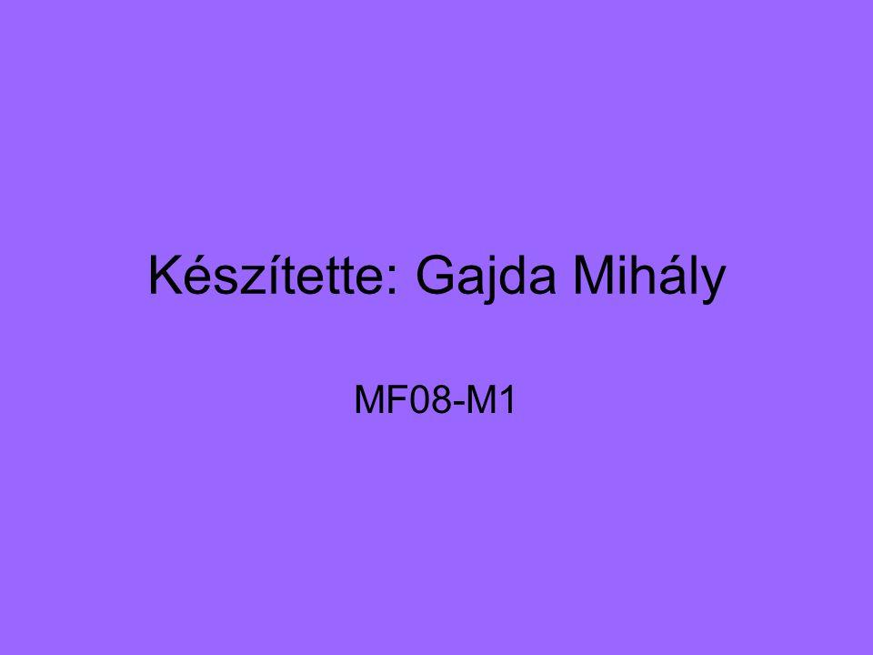 Készítette: Gajda Mihály MF08-M1