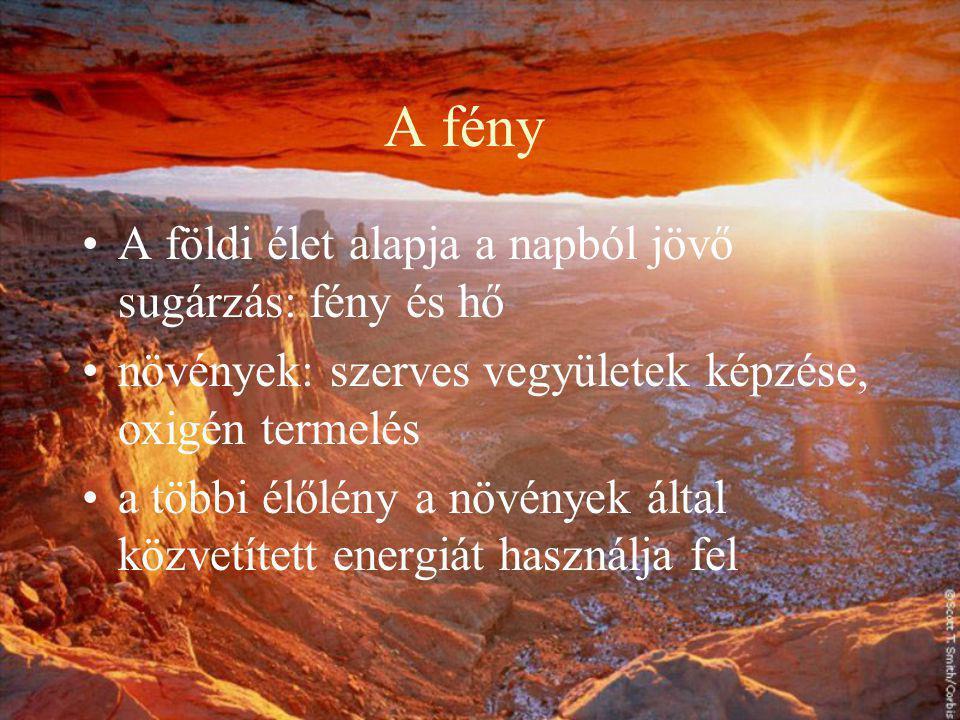 Fény és h ő Készítette: Angyalné Kovács Anikó