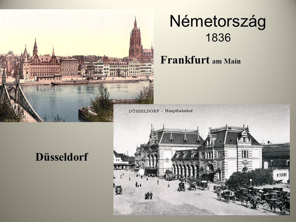 Németország 1836 Frankfurt am Main Düsseldorf