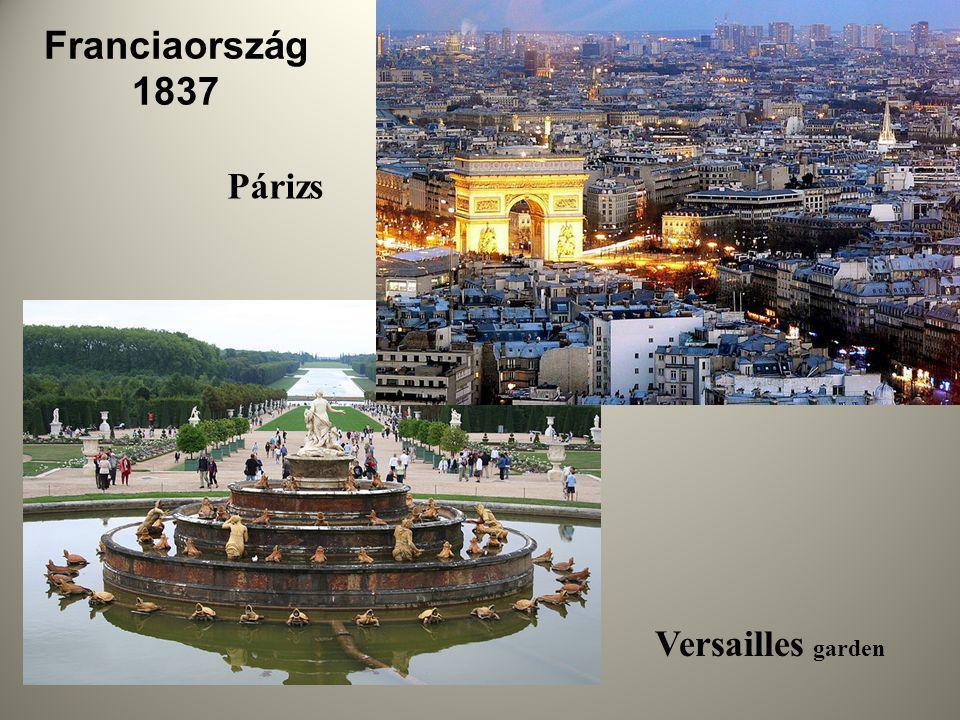 Franciaország 1837 Versailles garden Párizs