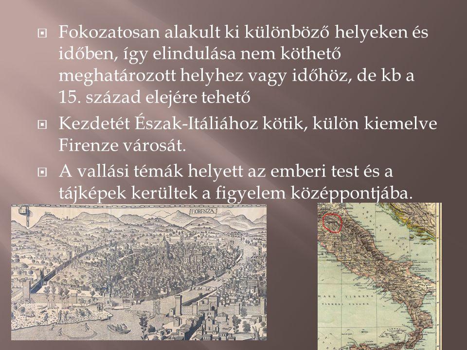  Fokozatosan alakult ki különböző helyeken és időben, így elindulása nem köthető meghatározott helyhez vagy időhöz, de kb a 15. század elejére tehető