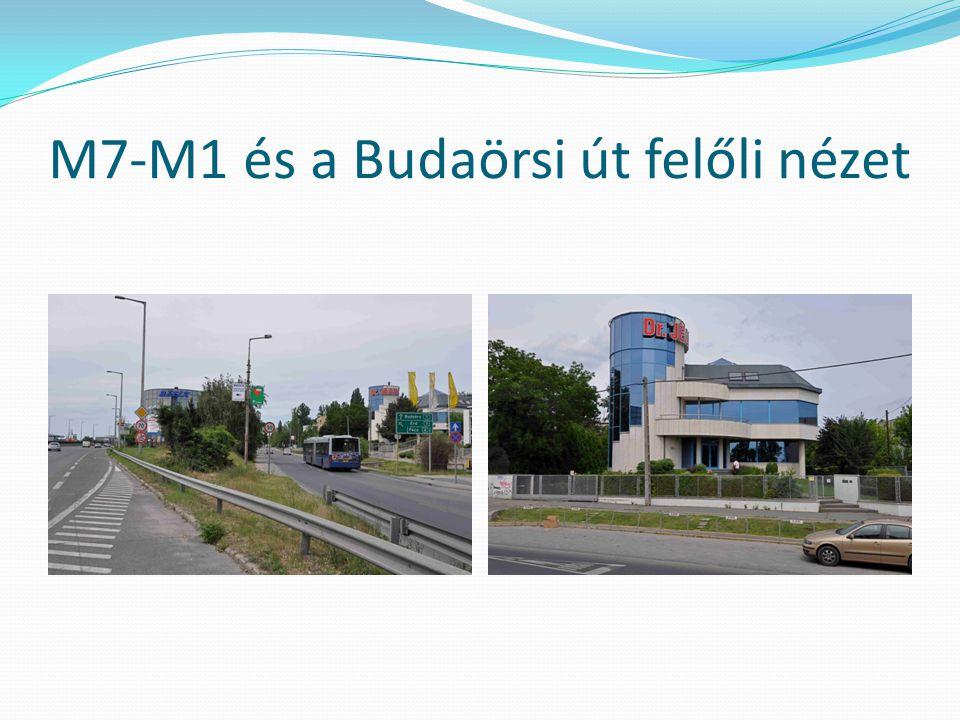M7-M1 és a Budaörsi út felőli nézet