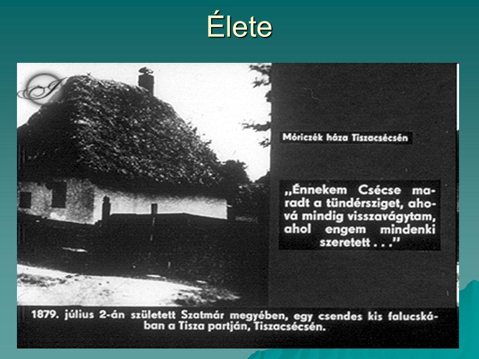 1908-ban a Nyugatban megjelent Hét krajcár című novellája, azonnali hírnevet hozott; regények, elbeszélések.